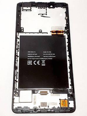 Модуль с рамкой ( сенсор и дисплей ) черный Nokia 1 Plus  TA-1130 оригинал б.у., фото 2