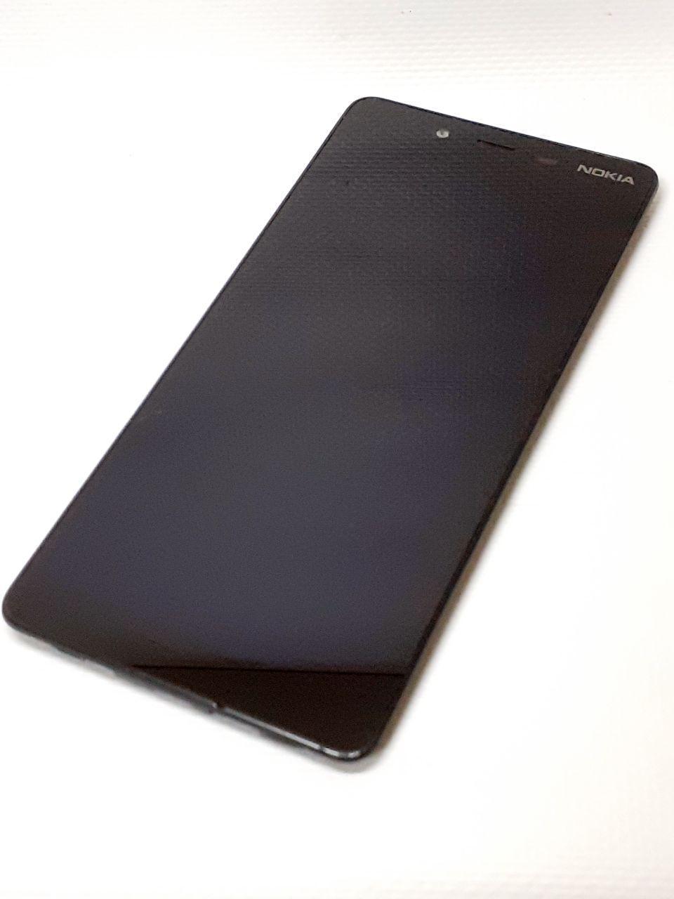 Модуль с рамкой ( сенсор и дисплей ) черный Nokia 1 Plus  TA-1130 оригинал б.у.