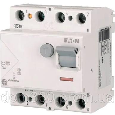 Дифференциальное реле (УЗО) EATON xPole Home HNC-63/4/003 тип АС