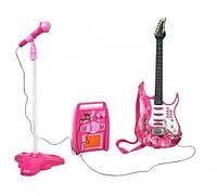 Комплект детской електро гитары + микрофон + усилитель G 4709, фото 1