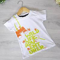 Дитяча футболка, трикотаж, для хлопчика 1-4 років (4 од. уп), Білий
