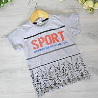 Детская футболка, трикотаж, для мальчика 3-7 лет (5 ед. в уп), Серый