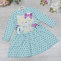 Дитяче трикотажне плаття, розмір: 2-3-4-5 років (4 од. уп. )