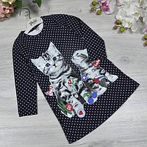 Детское трикотажное платье, размер: 2-3-4-5 лет (4 ед. в уп. ), Черный