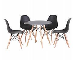 Кухонный стол 120 см и 4 стула AURORA Black