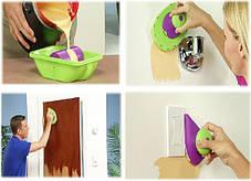 Кисть-плашка для покраски Пойнт энд Пейнт Point and Paint | Малярный валик с лотком Point N Paint, фото 3