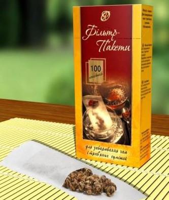Фільтр-пакети для заварювання чаю, трав'яних сумішей 100 шт.