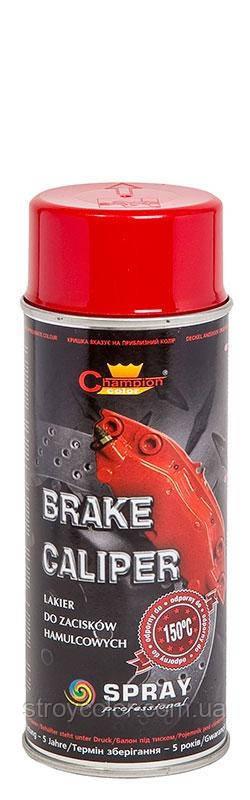 Эмаль-спрей Красная для суппортов Brake Caliper Champion 400мл (Термостойкая аэрозольная краска чемпион)