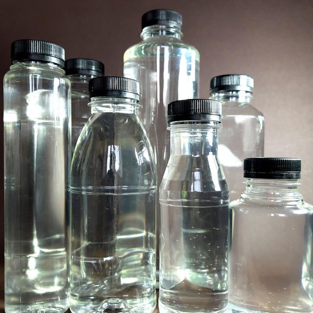 ПЕТ Пляшки прозорі з широким горлом з Чорною кришкою