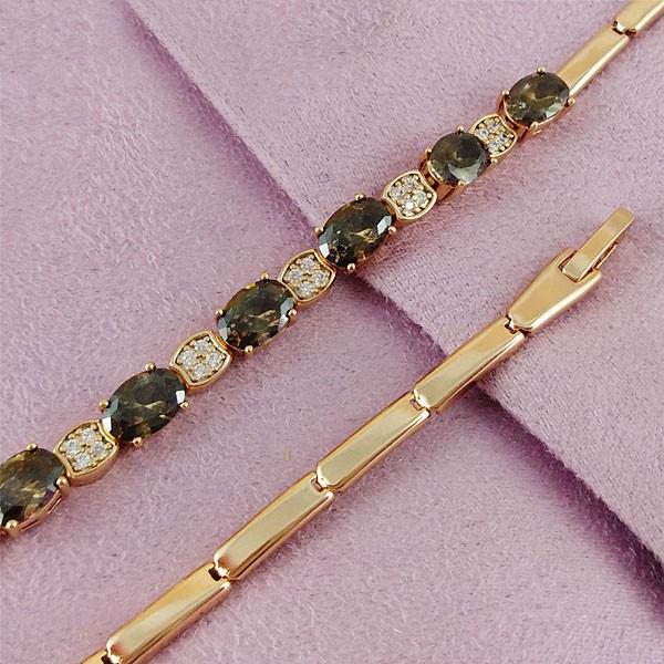 Браслет Xuping Jewelry 17,5/19 см Темная ночь медицинское золото позолота 18К А/В 4-0085
