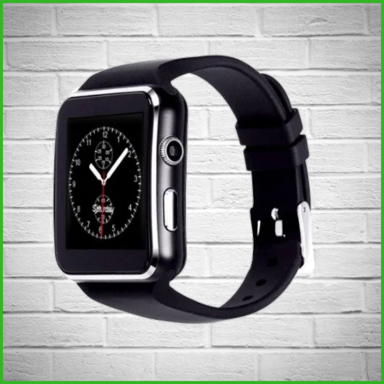 Умные смарт часы-телефон с поддержкой Sim card /Smart Watch X6 Чёрный