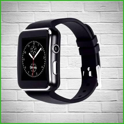 Умные смарт часы-телефон с поддержкой Sim card /Smart Watch X6 Чёрный, фото 2