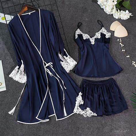 Женская пижама тройка Размер S(44), фото 2