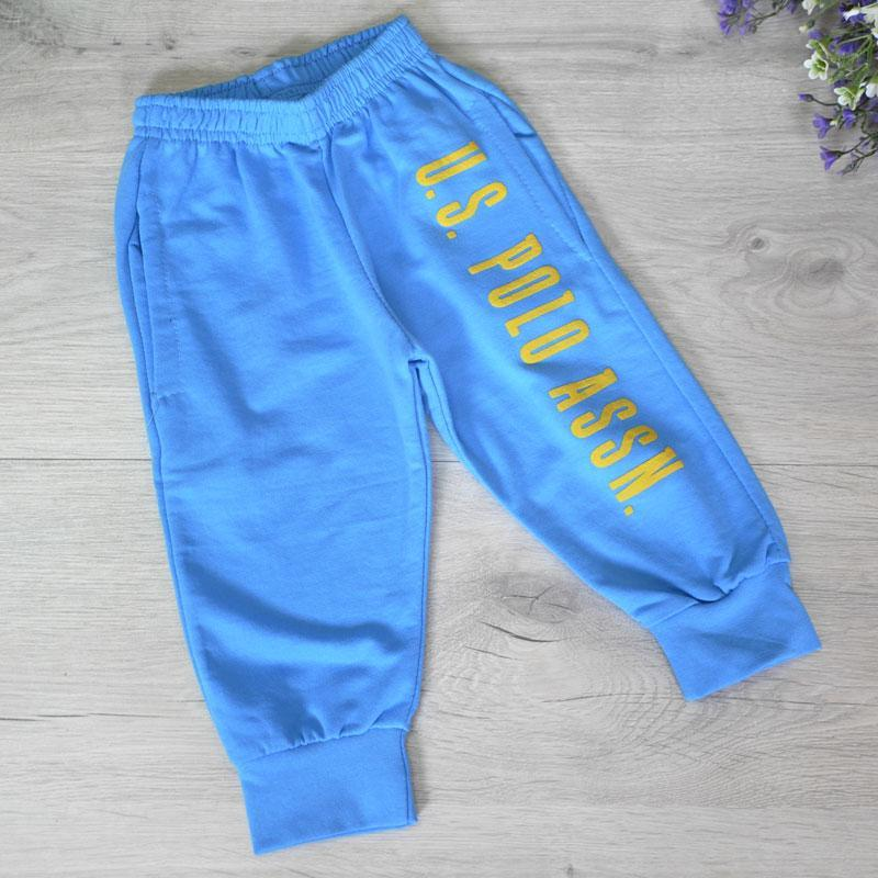 Спортивные штаны с карманами, тонкий трикотаж (100% cotton), для мальчика 1-4 года (4 ед в уп)