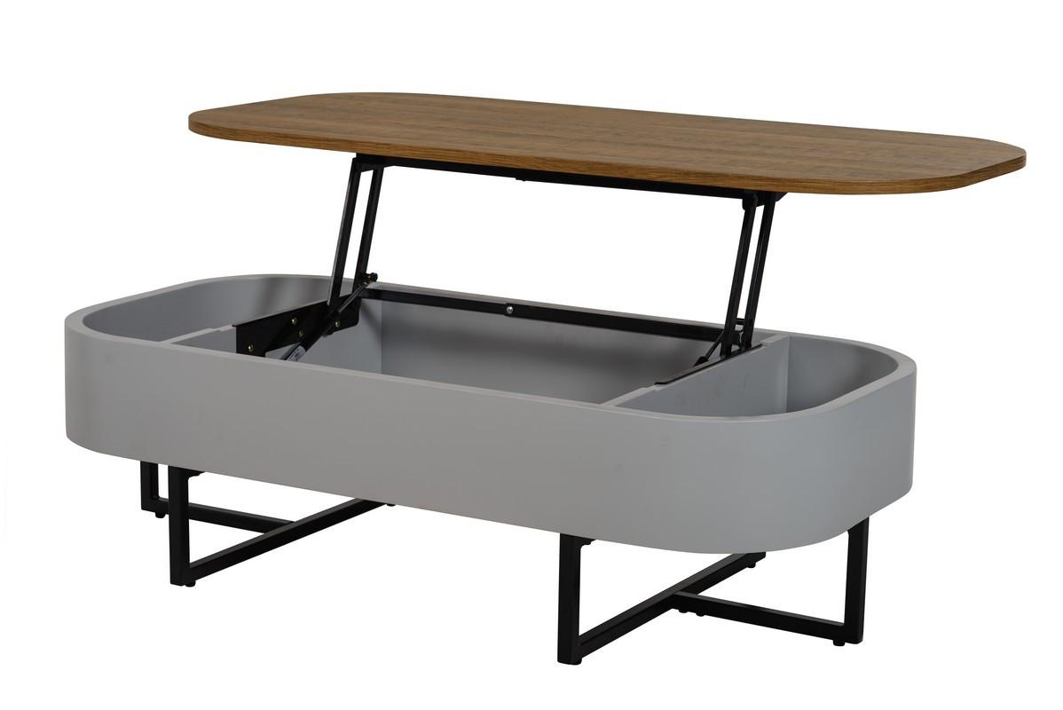 Журнальний стіл СТ-15 (Горіх + Сірий)