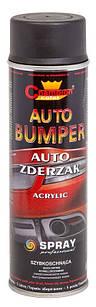 Эмаль-спрей Черная матовая для пластика Auto Bumper Champion 500мл (Аэрозольная краска чемпион для бампера)