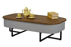 Журнальний стіл СТ-15 (Горіх + Сірий), фото 3