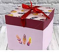 Коробка для упаковки подарков складная (16,5*16,5*16,5 см)