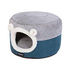Лежак будиночок для домашніх тварин Hoopet HY-1911 розмір S телий пуфик котам