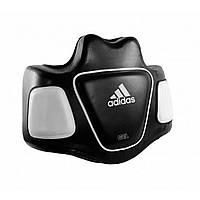 Защитный тренерский жилет для бокса (пояс тренера) Adidas Super Body Protector черно/белый, фото 1