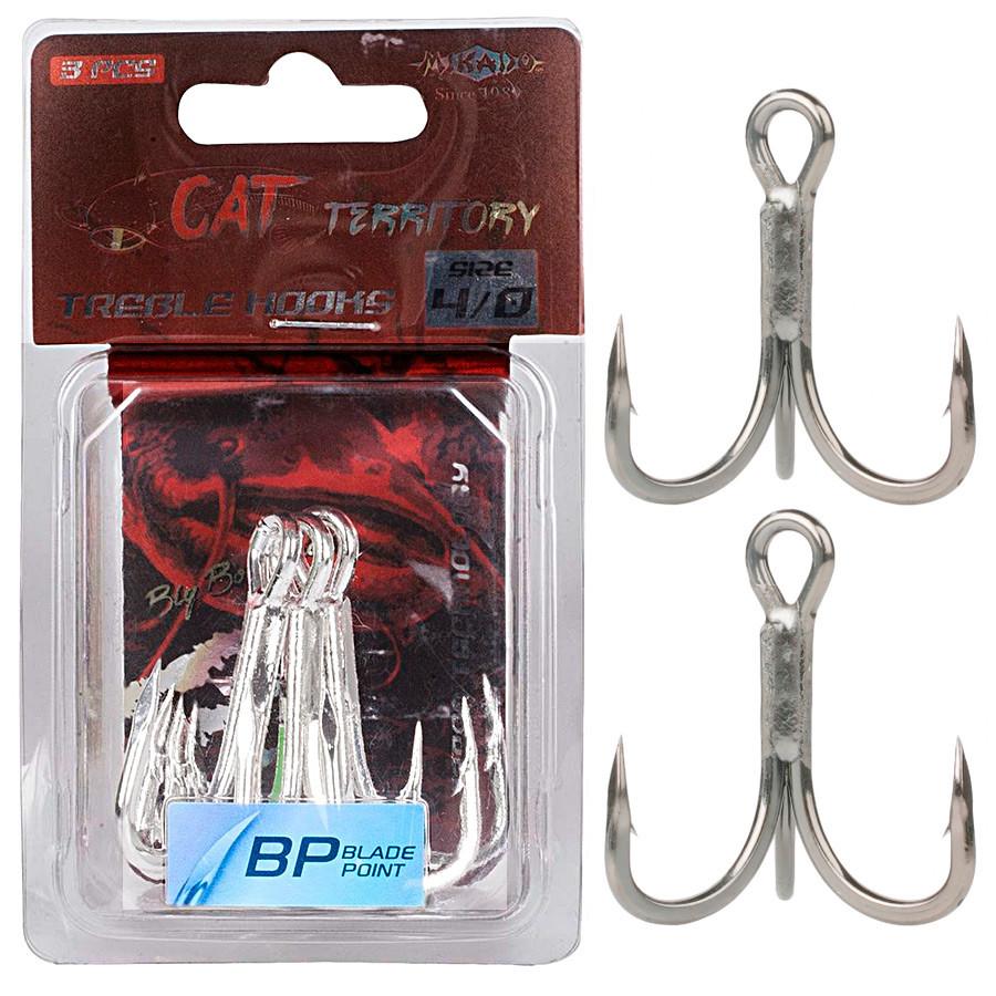Крючок-тройник Mikado Cat Territory №3/0 3шт. (black nickel)