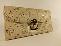 Кошелек женский Louis Vuitton 58123 белый, натуральная кожа, расцветки
