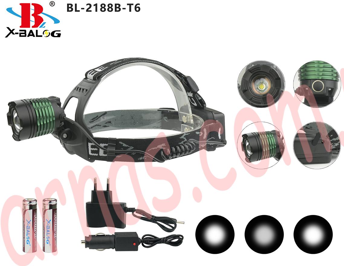 Налобний ліхтар акумуляторний Bailong BL-2188B-T6