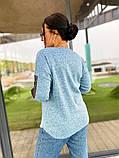 Кофта женская ажурная ткань ангора софт рукава с сеткой размер: 50-52,54-56,58-60, фото 3