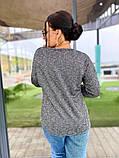 Кофта женская ажурная ткань ангора софт рукава с сеткой размер: 50-52,54-56,58-60, фото 6