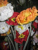 Цветок искусственный, Мак, Н75 см, Интерьерный цветок, Днепропетровск