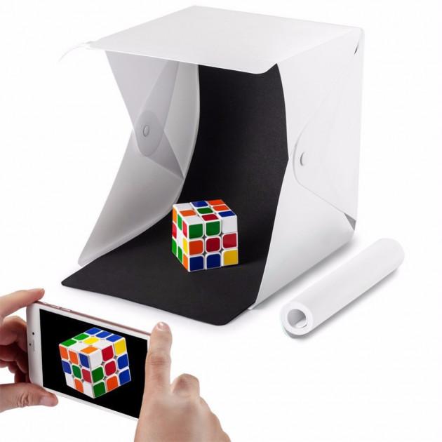 Фото-лайтбокс Лайткуб 30х30 Lightbox портативный складной с подсветкой Белый