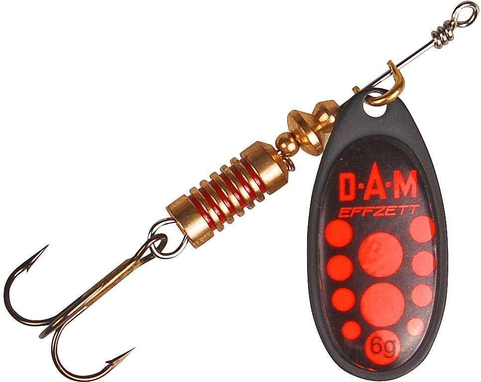 Блесна-вертушка DAM Effzett Standart Black 6гр (red)