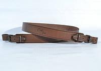 Ремень для ружья кожаный коричневый