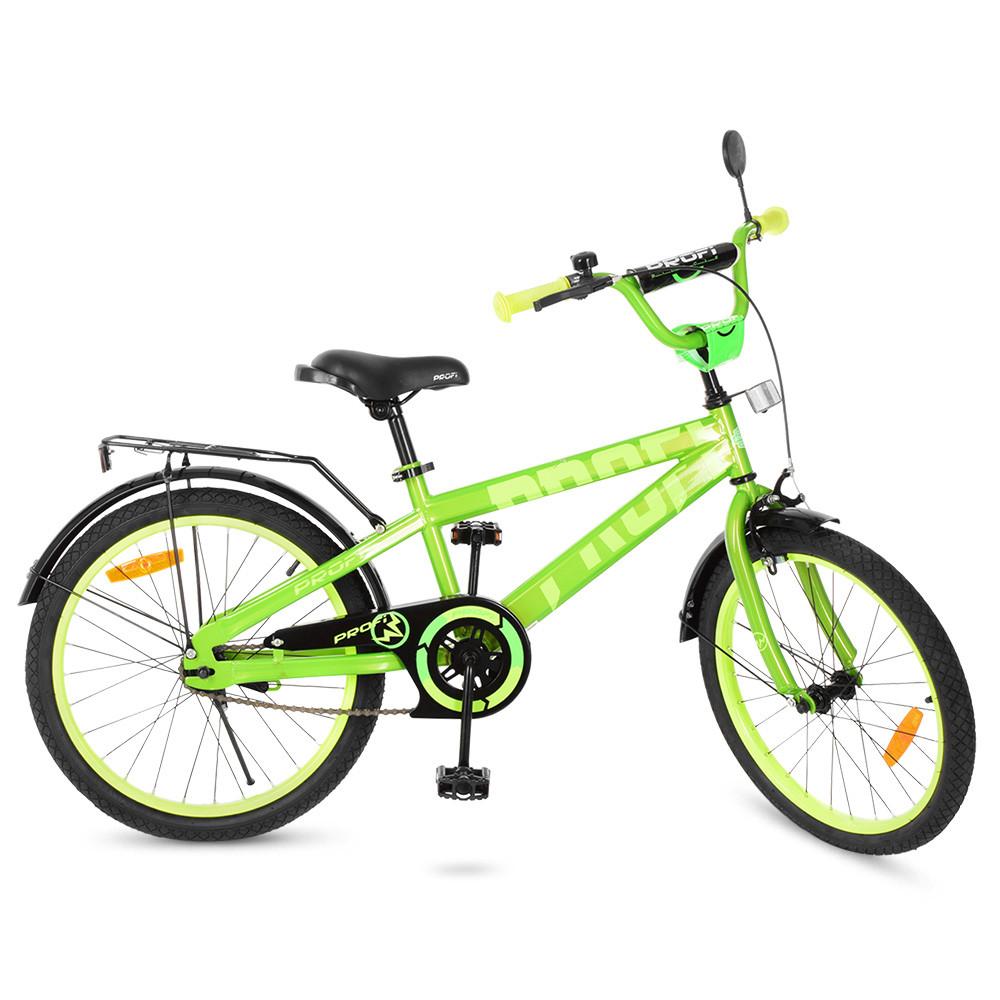 Велосипед детский PROF1 20д. T20173 Flash,салатовый