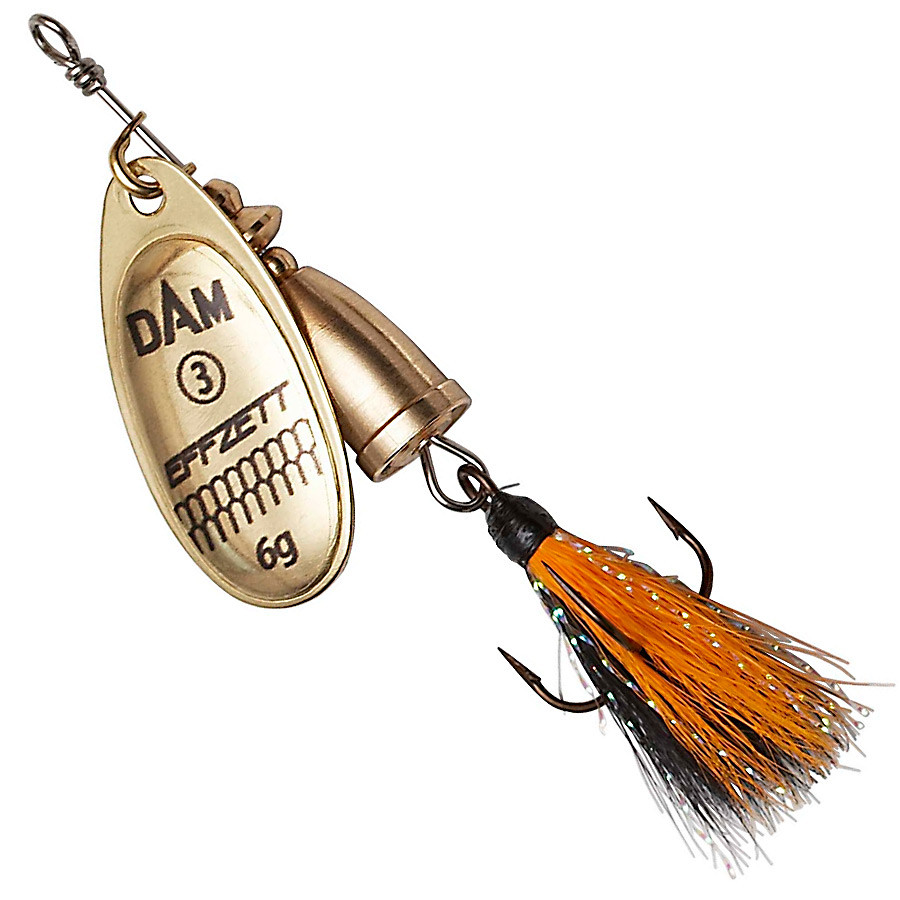 Блесна-вертушка DAM Effzett Executor с бородкой 11гр (reflex gold)