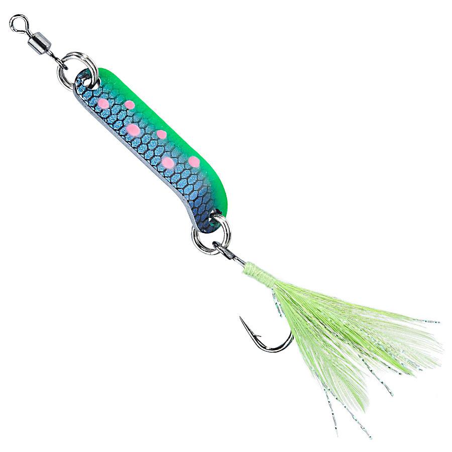 Блесна-колебалка Balzer Aggressor Trout spoon один.крючок 3см 2.5гр. blue-pink spots