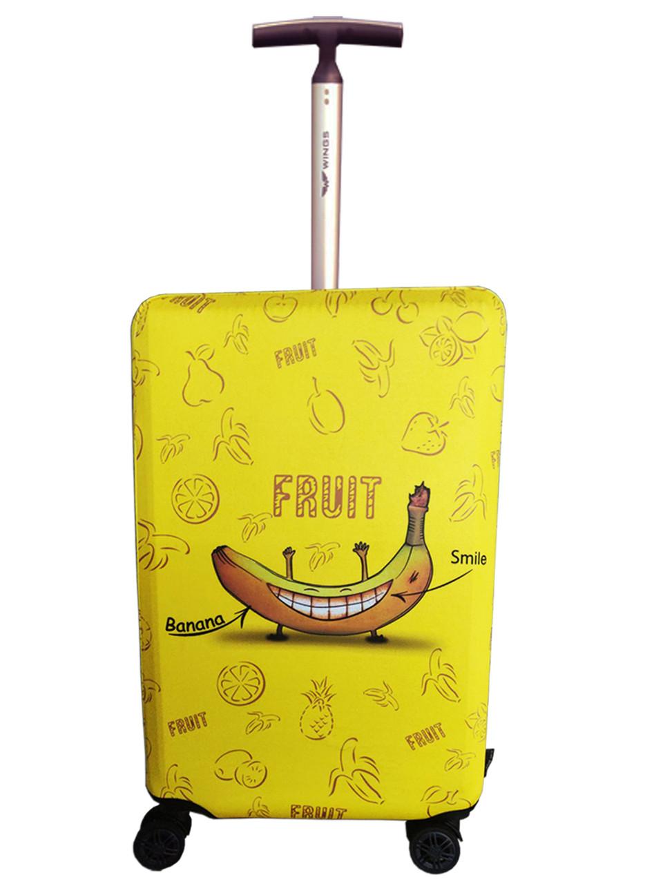 Чохол для валізи Coverbag неопрен M банан