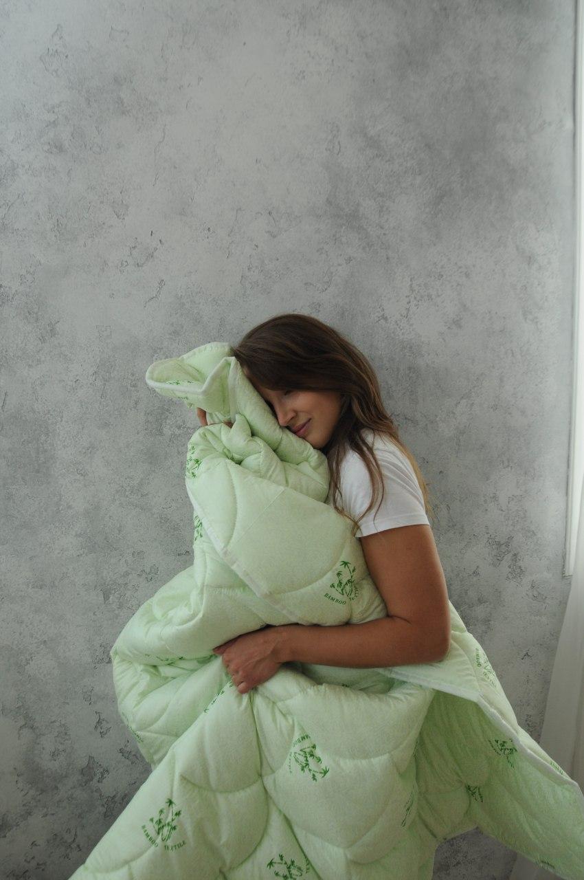 Одеяло Бамбук стеганное демисезонное, зима 150х220, полуторный