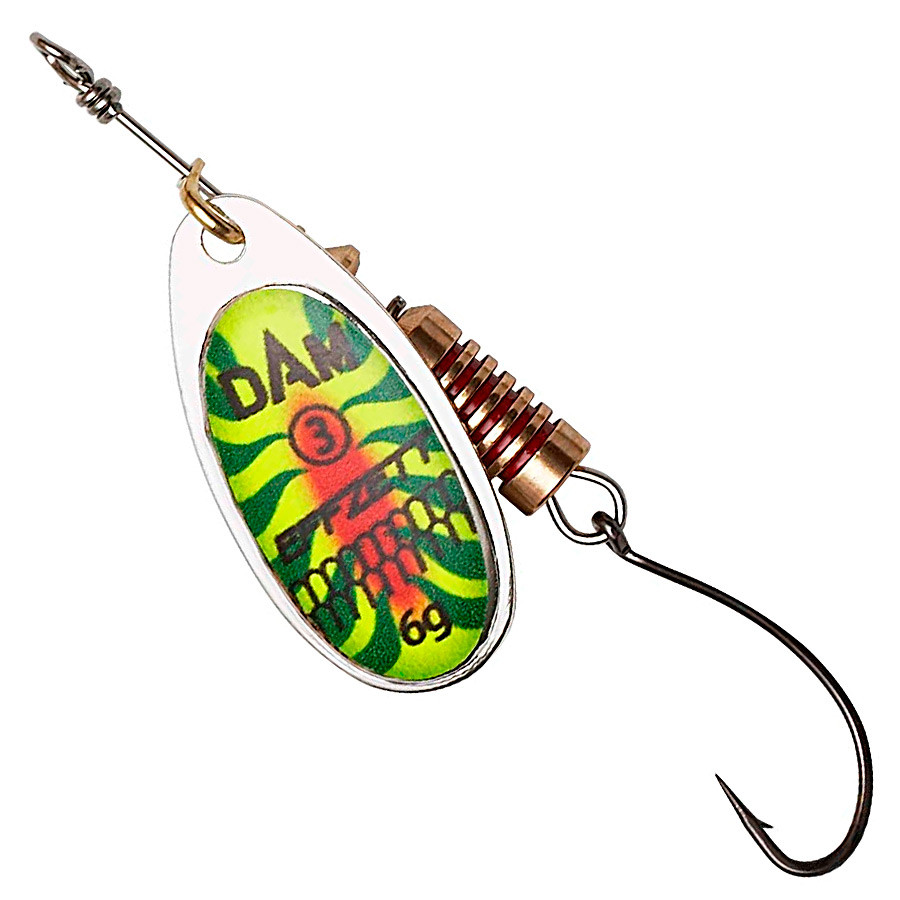 Блесна-вертушка DAM Effzett Natural With Single Hook 6гр (firetiger)