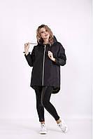 / Размеры 42-74 / Женская осенне-весенняя куртка t01308 / цвет черный