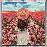 """Картина для рисования по номерам ТМ Идейка, Люди """"Безграничная красота"""" 40*40 см, холст на подрамнике"""