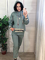 Женский утепленный спортивный костюм с капюшоном. Турция, фото 1