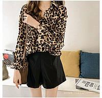 Женская свободная рубашка в леопардовый принт из коттона (р. 42-44) 83BL415, фото 1