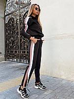 Женский спортивный костюм с мастеркой на молнии и разрезами на штанинах (р. 42-44) 22SP1089, фото 1