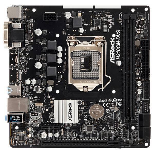 Материнская плата ASRock H310CM-DVS (s1151, Intel H310, PCI-Ex16) (2xD DDR4/DVI/VGA)