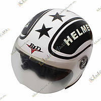 """Мотошлем BLD """"STAR-Helmet""""  White ¾, фото 1"""