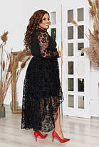 Платье  БАТАЛ сетка 983066, фото 3