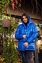 Женская зимняя куртка зефирка на кнопках с объемным капюшоном (р. 42-46) 22KU458, фото 3