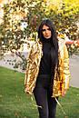 Женская зимняя куртка зефирка на кнопках с объемным капюшоном (р. 42-46) 22KU458, фото 6