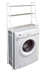 Полка-стеллаж над стиральной машиной в ванной (металл, h-155см) этажерка-органайзер на стиральную машину (GK)